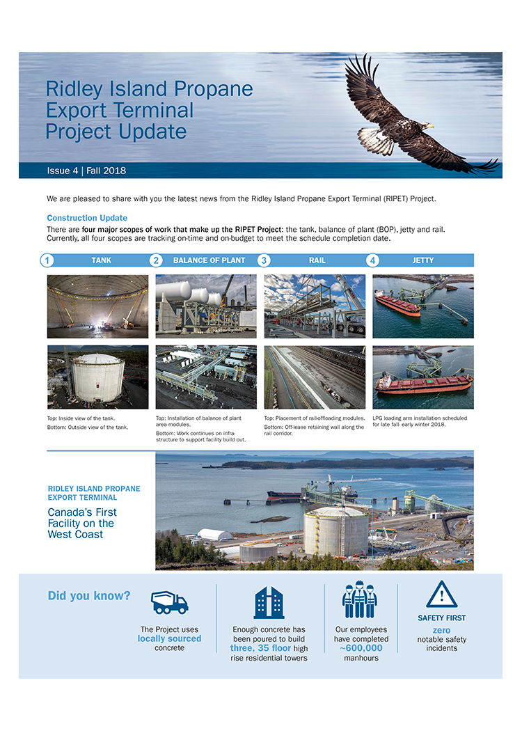 Ridley Island Propane Export Terminal Project Update Issue 4