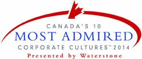canada's 10 most admired corporate cultures 2014